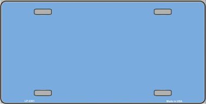 Baby Blue Solid Background Metal Novelty License Plate