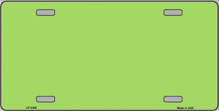 Lime Green Solid Background Metal Novelty License Plate