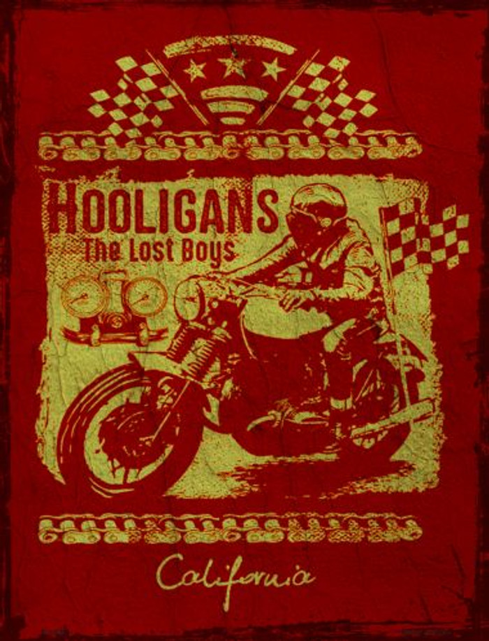 Hooligans Metal Novelty Parking Sign