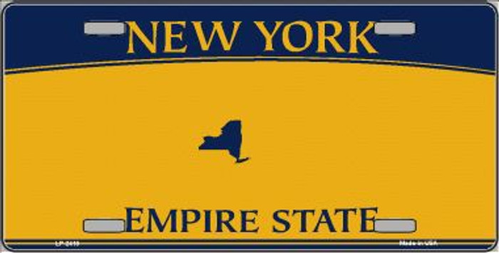 New York State Background Blanks Metal Novelty License Plate