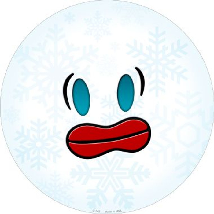 Frazzle Face Snowflake Novelty Metal Circular Sign