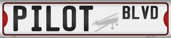 Pilot Blvd Novelty Metal Mini Street Sign