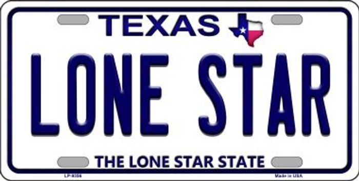 Lone Star Texas Background Novelty Metal License Plate