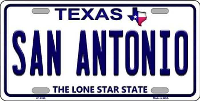 San Antonio Texas Background Novelty Metal License Plate
