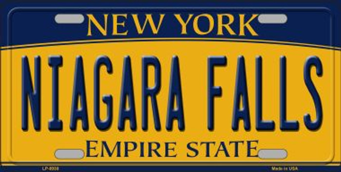 Niagara Falls New York Background Novelty Metal License Plate