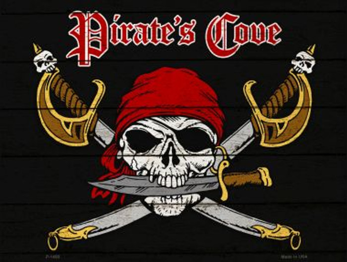 Pirates Cove Metal Novelty Parking Sign