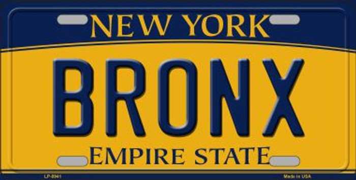 Bronx New York Background Novelty Metal License Plate