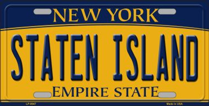 Staten Island New York Background Novelty Metal Novelty License Plate