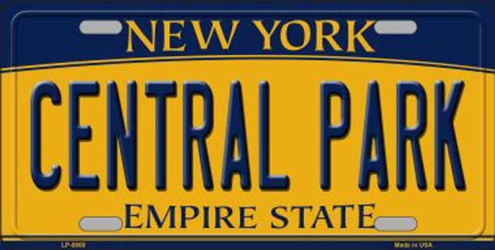 Central Park New York Background Novelty Metal License Plate