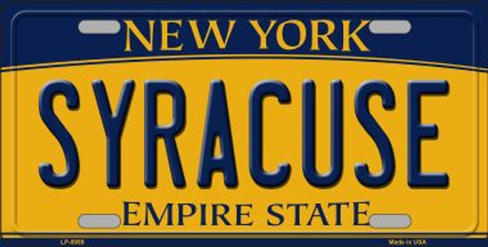 Syracuse New York Background Novelty Metal Novelty License Plate