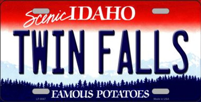 Twin Falls Idaho Background Novelty Metal License Plate