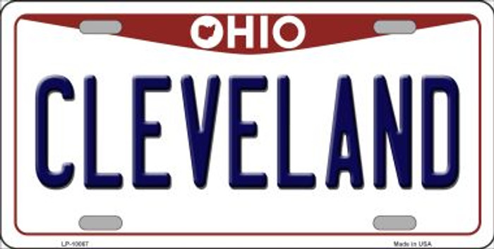 Cleveland Ohio Background Novelty Metal License Plate