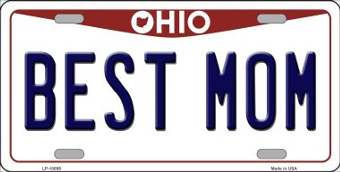 Best Mom Ohio Background Novelty Metal License Plate