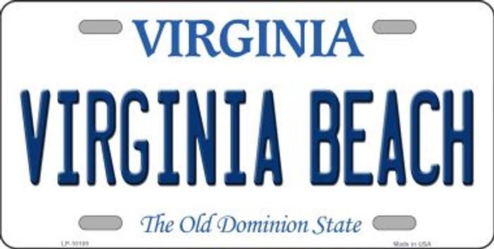 Virginia Beach Virginia Background Novelty Metal License Plate