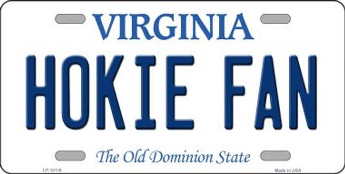 Hokie Fan Virginia Background Novelty Metal License Plate