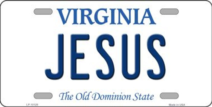 Jesus Virginia Background Novelty Metal License Plate