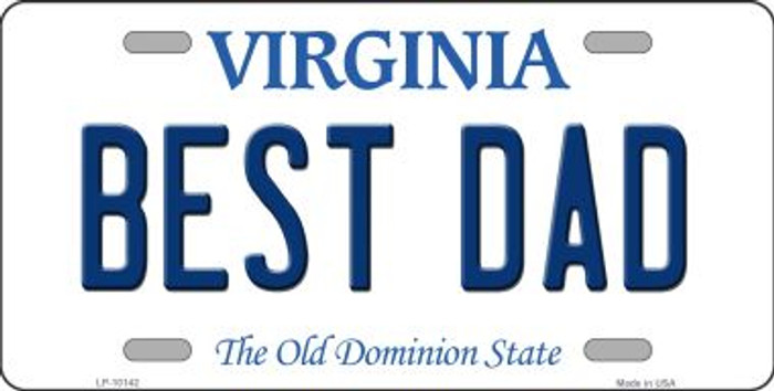 Best Dad Virginia Background Novelty Metal License Plate