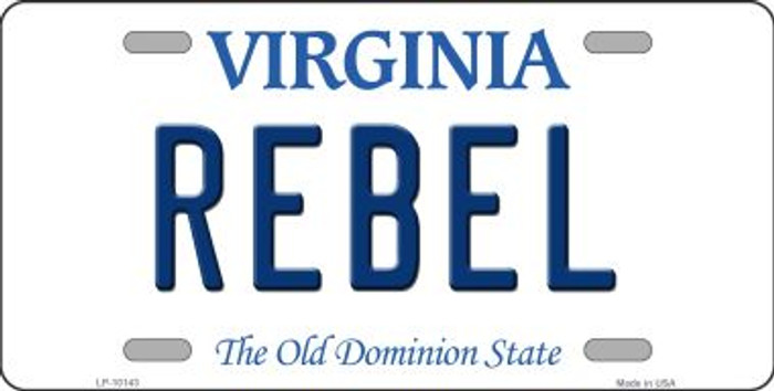 Rebel Virginia Background Novelty Metal License Plate
