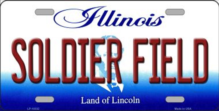 Soldier Field Illinois Background Metal Novelty License Plate
