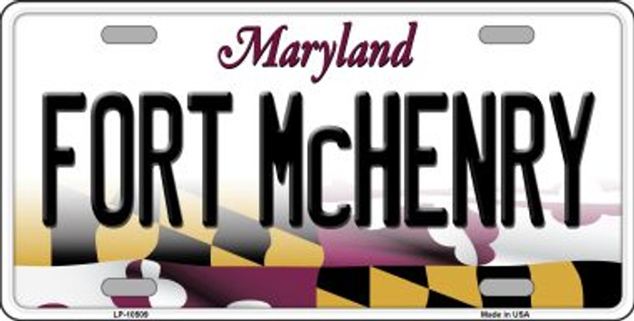 Fort McHenry Maryland Background Metal Novelty License Plate
