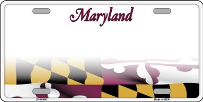 Maryland State Background Metal Novelty License Plate