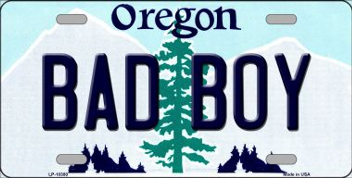 Bad Boy Oregon Background Metal Novelty License Plate