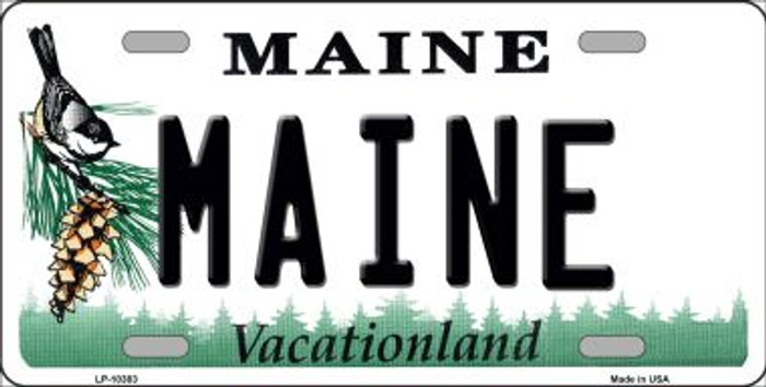Maine Background Metal Novelty License Plate