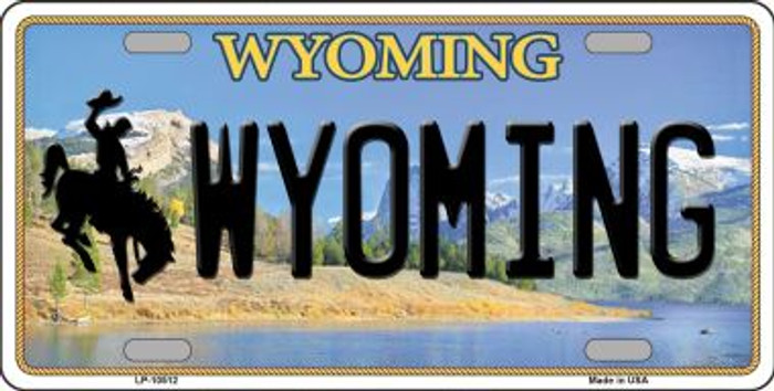 Wyoming Background Metal Novelty License Plate