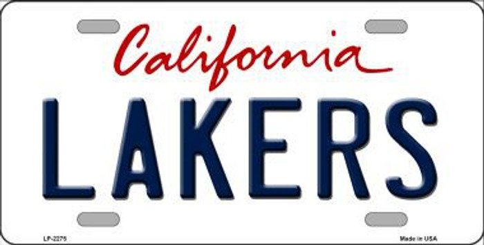 Lakers California Novelty State Background Metal License Plate LP-2575