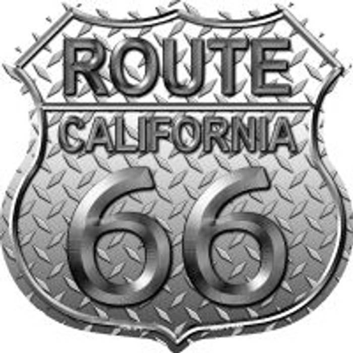 Route 66 California Diamond Highway Shield Novelty Metal Magnet