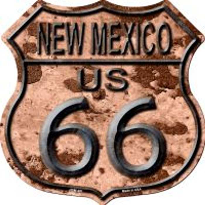 Route 66 New Mexico Rusty Metal Highway Shield Novelty Metal Magnet
