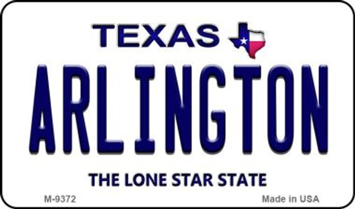 Arlington Texas Background Novelty Metal Magnet