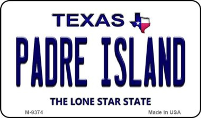 Padre Island Texas Background Novelty Metal Magnet