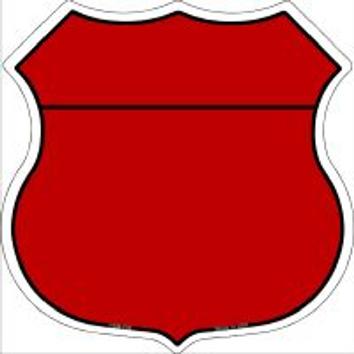 Red|Black Plain Highway Shield Novelty Metal Magnet