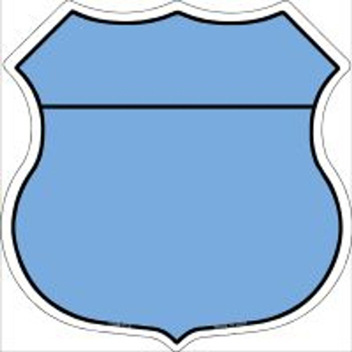 Light Blue|Black Plain Highway Shield Novelty Metal Magnet