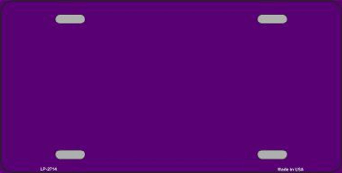 Purple Solid Background Metal Novelty License Plate