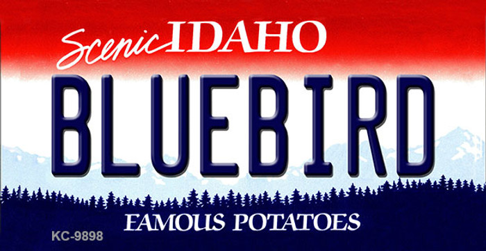 Bluebird Idaho State Background Wholesale Metal Novelty Key Chain