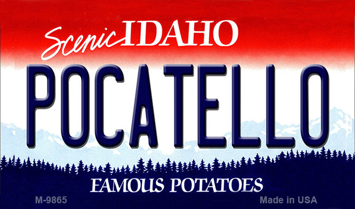 Pocatello Idaho State Background Metal Novelty Magnet