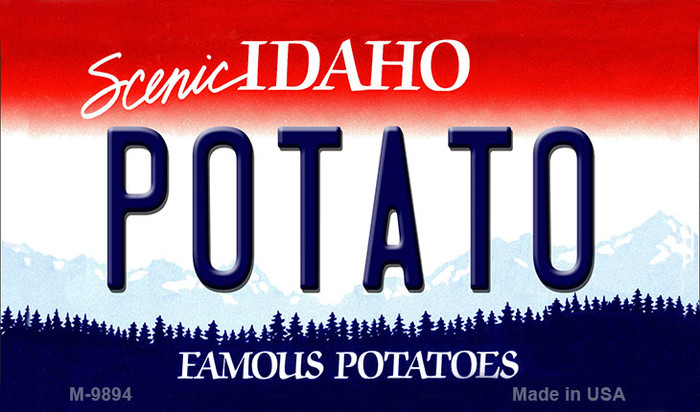 Potato Idaho State Background Metal Novelty Magnet