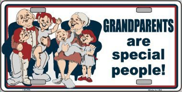 Grandparents Are Special People Metal Novelty License Plate LP-275