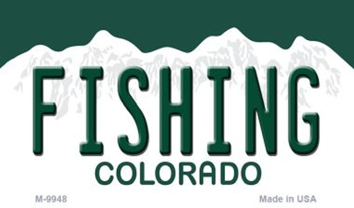 Fishing Colorado State Background Metal Magnet Novelty