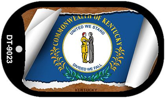 "Kentucky State Flag Scroll Dog Tag Kit 2"" Metal Novelty"