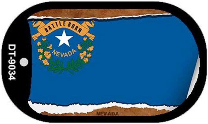 "Nevada State Flag Scroll Dog Tag Kit 2"" Metal Novelty"