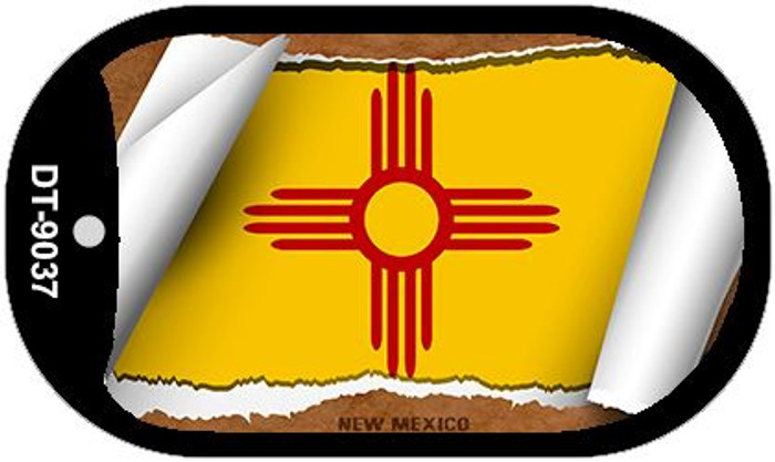 "New Mexico State Flag Scroll Dog Tag Kit 2"" Metal Novelty"