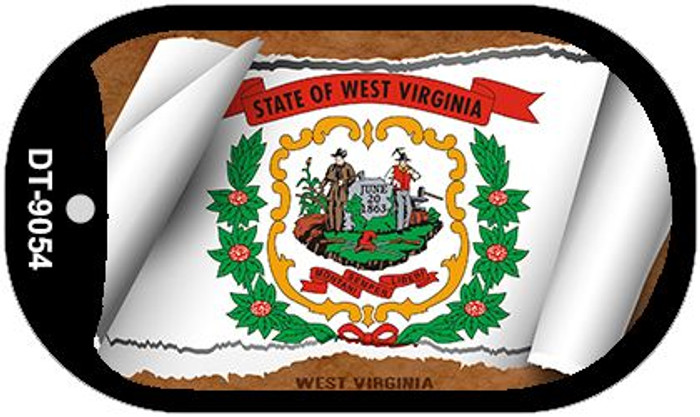"West Virginia State Flag Scroll Dog Tag Kit 2"" Metal Novelty"