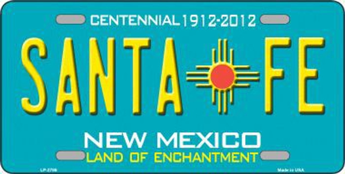 Santa Fe New Mexico Teal Novelty Metal License Plate LP-2786