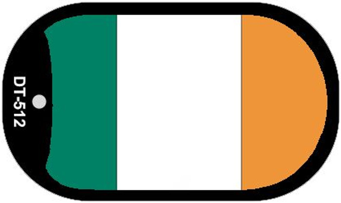 "Ireland Country Flag Scroll Dog Tag Kit 2"" Metal Novelty"