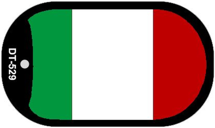 """Italy Country Flag Dog Tag Kit 2"""" Metal Novelty"""