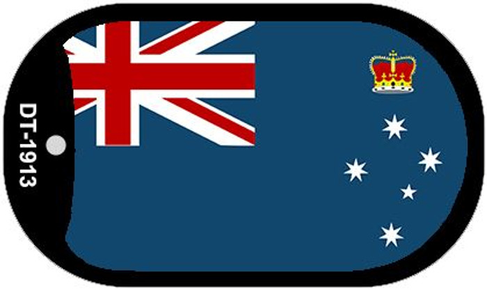 """Victoria Country Flag Dog Tag Kit 2"""" Metal Novelty"""