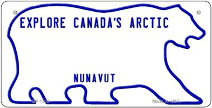 Canada Nunavut State Background Novelty Bicycle License Plate